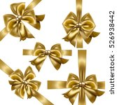 set of gold gift bows. vector... | Shutterstock .eps vector #526938442
