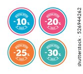sale discount icons. special... | Shutterstock .eps vector #526944262