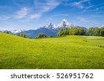 idyllic landscape in the alps... | Shutterstock . vector #526951762