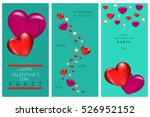 valentines day party invitation ... | Shutterstock .eps vector #526952152