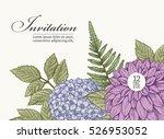 vector vintage card. wedding... | Shutterstock .eps vector #526953052