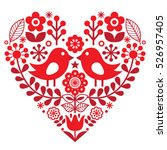 Valentine's Day Folk Pattern...