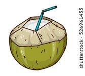 coconut water drink. green... | Shutterstock .eps vector #526961455
