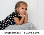 close up of cute little girl in ... | Shutterstock . vector #526965196