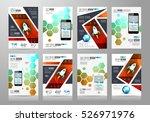 set of brochure templates ... | Shutterstock . vector #526971976