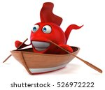 fun fish   3d illustration   Shutterstock . vector #526972222