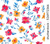 seamless floral pattern | Shutterstock .eps vector #526972366