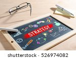 business strategy concept drawn ...   Shutterstock . vector #526974082