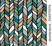 tribal style braided seamless... | Shutterstock .eps vector #526975576