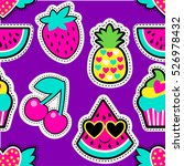 fashion patch badges in cool... | Shutterstock .eps vector #526978432