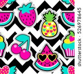 fashion patch badges in cool... | Shutterstock .eps vector #526978645