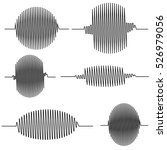 set wavy oscillogram  seismic... | Shutterstock .eps vector #526979056