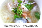 fish porridge  thai food  | Shutterstock . vector #526980295