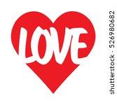 red heart icon vector. love...   Shutterstock .eps vector #526980682