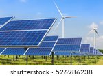 photovoltaics and wind turbines ... | Shutterstock . vector #526986238
