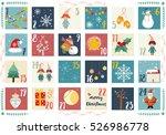 vector advent calendar....   Shutterstock .eps vector #526986778