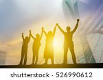 silhouette of business people... | Shutterstock . vector #526990612