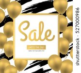 sale banner. golden luxury... | Shutterstock .eps vector #527000986