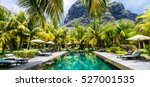 luxury tropical vacation.spa... | Shutterstock . vector #527001535
