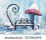 Fantasy Winter Scenery With A...