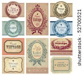 set of 10 ornate vintage labels ... | Shutterstock .eps vector #52700521