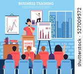 business training template with ... | Shutterstock .eps vector #527009572