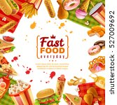 fast food template with... | Shutterstock .eps vector #527009692
