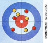 sport. curling stones on ice.... | Shutterstock .eps vector #527010622