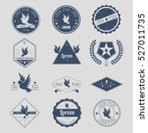 hipster badge or emblem or icon ... | Shutterstock .eps vector #527011735