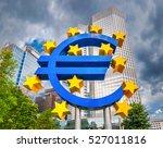 euro sign at european central... | Shutterstock . vector #527011816