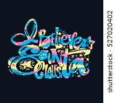 i  believe in santa claus hand...   Shutterstock .eps vector #527020402