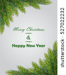 christmas background with fir... | Shutterstock .eps vector #527022232