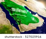 saudi arabia with embedded flag ... | Shutterstock . vector #527025916