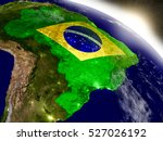 Brazil With Embedded Flag On...