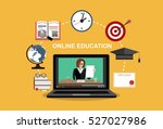 training  education  online... | Shutterstock .eps vector #527027986