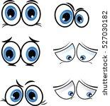cartoon eyes in vector   Shutterstock .eps vector #527030182