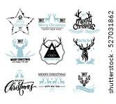 set of hand drawn merry... | Shutterstock .eps vector #527031862