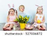 attractive preschool boy and... | Shutterstock . vector #527036872