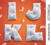 3d render soft pillow letters... | Shutterstock . vector #527038216