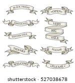 white ribbon banners set.... | Shutterstock .eps vector #527038678
