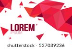 Red Paper Origami Polygonal Shape vector background. Abstract geometric illustration with place for text | Shutterstock vector #527039236