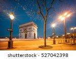 the arc de triomphe de l'etoile ...   Shutterstock . vector #527042398
