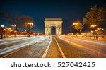 the arc de triomphe de l'etoile ... | Shutterstock . vector #527042425