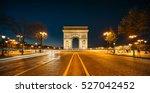 the arc de triomphe de l'etoile ... | Shutterstock . vector #527042452