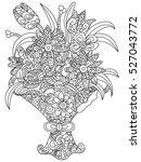 bouquet of flowers coloring... | Shutterstock . vector #527043772