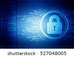 security concept  lock on... | Shutterstock . vector #527048005