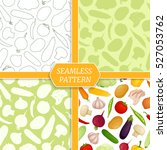 set of seamless patterns with... | Shutterstock .eps vector #527053762