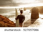 surfer enjoys the view over the ... | Shutterstock . vector #527057086