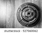 weight plate.  | Shutterstock . vector #527060062