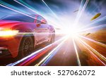 red race car with light effect.  | Shutterstock . vector #527062072